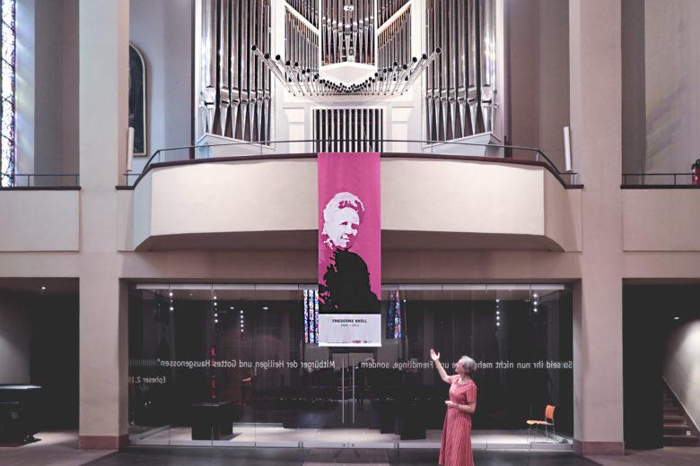 Friederike Bröll in der Heiliggeistkirche
